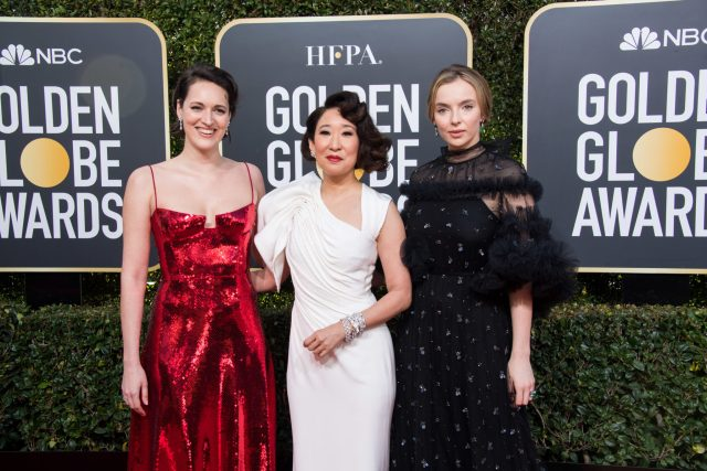Phoebe Waller-Bridge, nominee Sandra Oh and Jodie Comer Golden Globes 4Chion Lifestyle Party