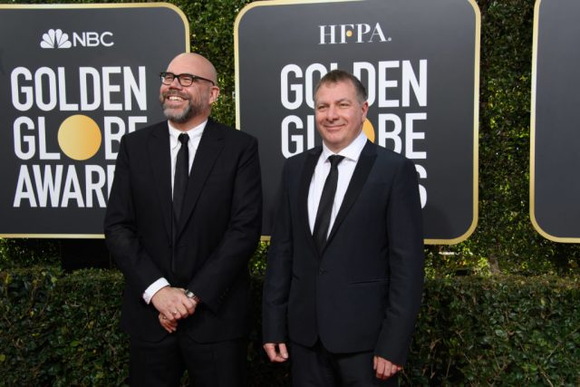 Simon Heath and Jed Mercurio Golden Globes 4chion Lifestyle Party