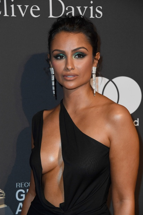 Nazanin Mandi Clive Davis Grammy Party 4chion Lifestyle