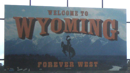 Wyoming State Line 4chion lifestyle road trip