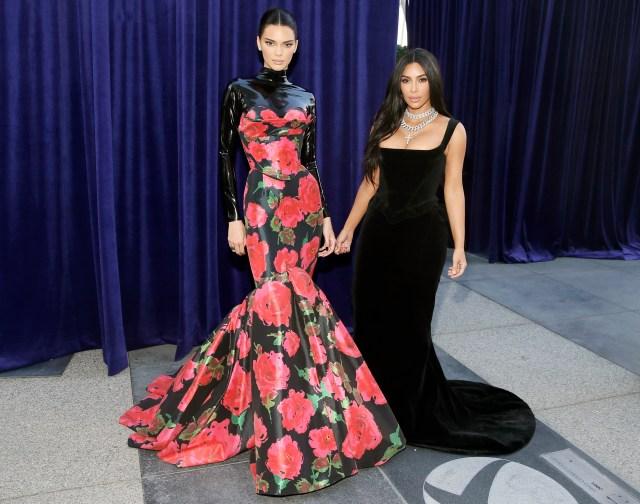 Kendall Jenner and Kim Kardashian West