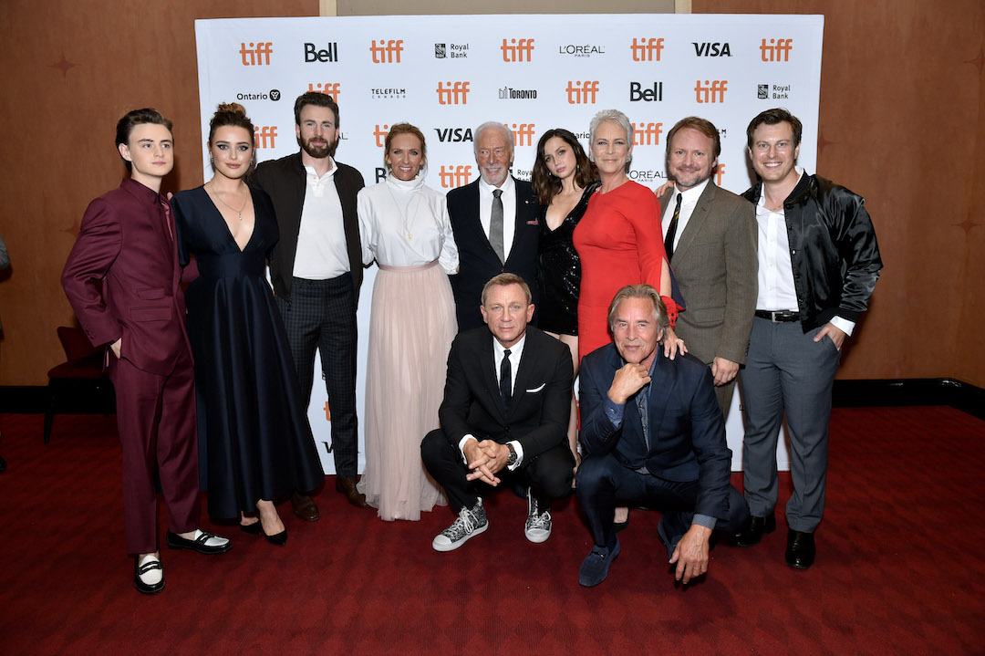 Jaeden Lieberher, Katherine Langford, Chris Evans, Toni Collette, Christopher Plummer, Daniel Craig, Ana de Armas, Jamie Lee Curtis, Don Johnson, Rian Johnson, Director/Writer/Producer, Noah Segan