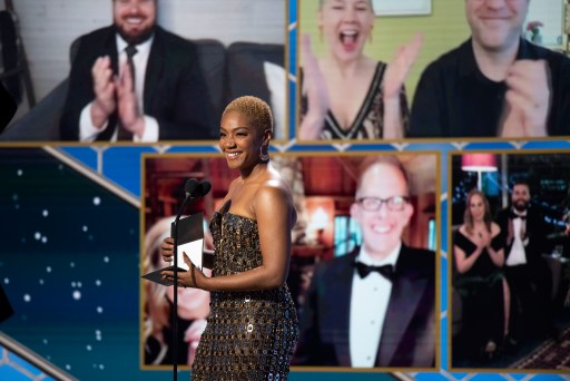 Tiffany Haddish Golden Globe Awards 2021 4chion Lifestyle