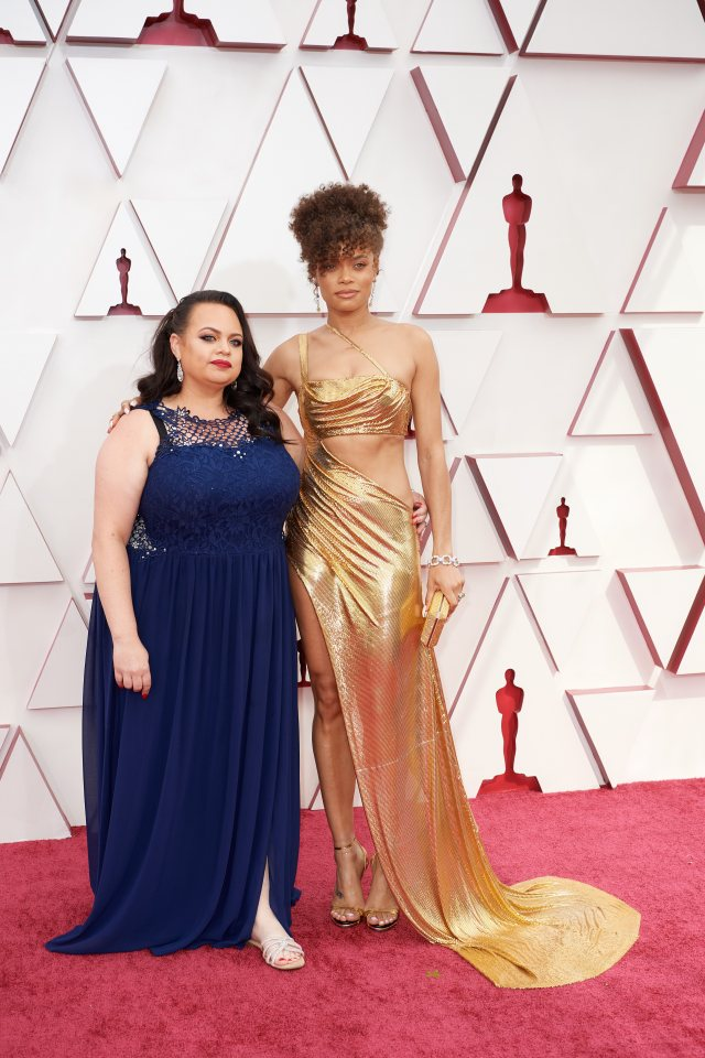 Andra Day at The Academy Awards red carpet 4Chion Lifestyle 93rd Oscars