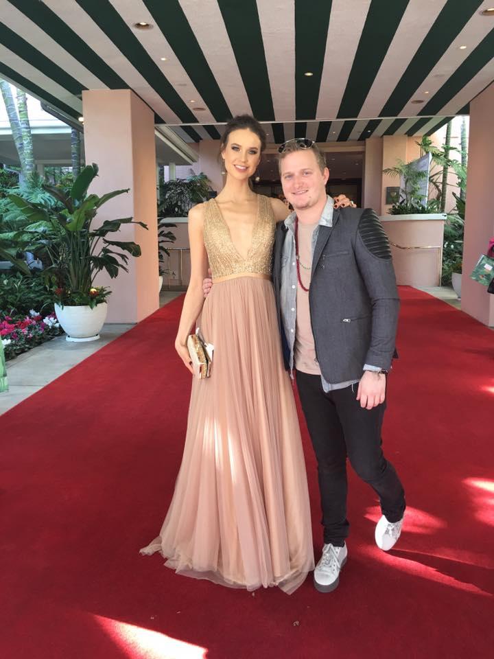 Egith van Dinther Golden Globes Red Carpet