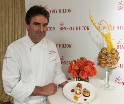 Executive Pastry Chef Thomas Henzi at the Menu Preview for the 74th Annual Golden Globe Awards at the Beverly Hilton Hotel in Beverly Hills, CA. Photo: Magnus Sundholm for the HFPA: