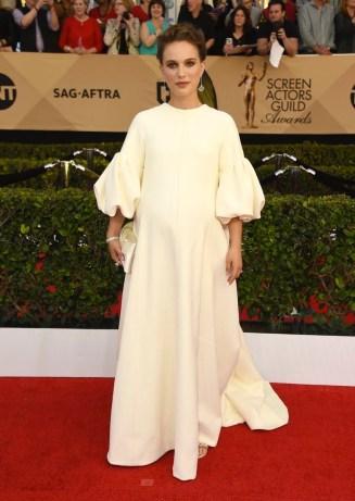 Natalie Portman Christian Louboutin shoes, and Tiffany & Co. jewels