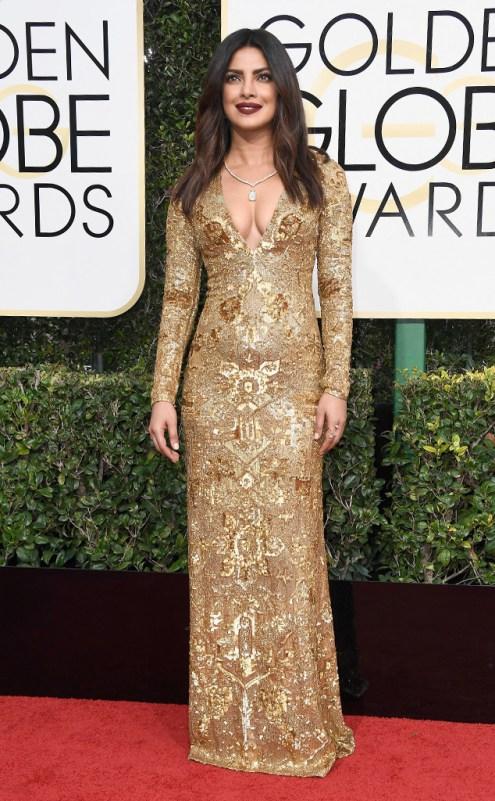 Priyanka Chopra Golden Globes Red Carpet