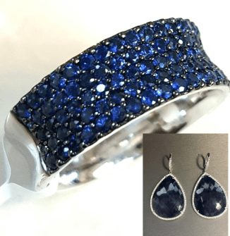 Rebecca Romijn wore DVANI sapphire earrings and ring, and a Hueb 4Chion Lifestyle