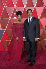 Denzel Washington, Oscar® nominee, and Pauletta Washington arrive on the red carpet of The 89th Oscars® at the Dolby® Theatre in Hollywood, CA on Sunday, February 26, 2017.