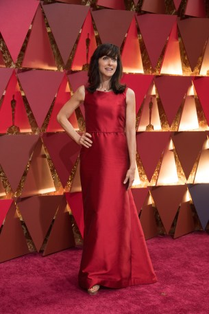 Mary Zophres, Oscar® nominee, arrives on the red carpet of The 89th Oscars® at the Dolby® Theatre in Hollywood, CA on Sunday, February 26, 2017.