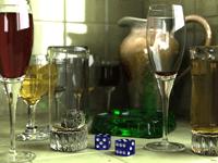 3D Wine Glasses