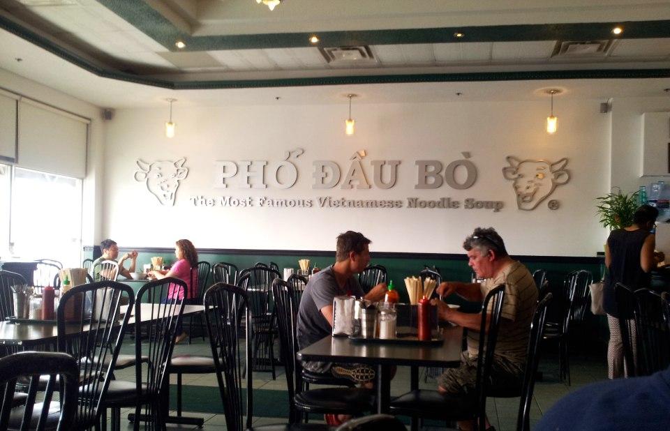 Pho Dau Bo inside