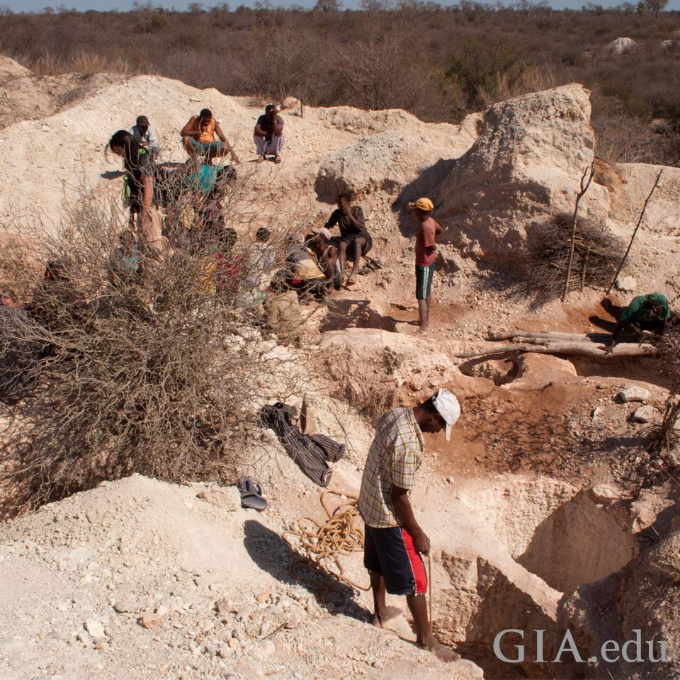Sapphire mining in Madagascar