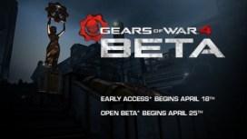 Gears of War 4 Beta poster