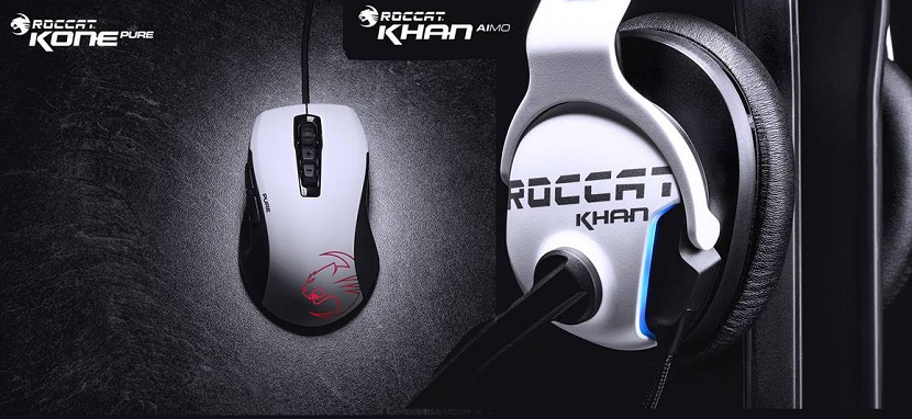 ROCCAT launches white variants of the Khan AIMO and iconic Kone Pure