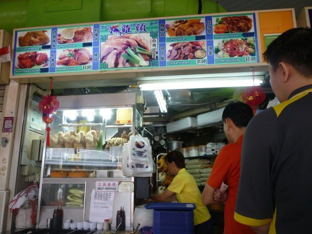 Queue for Hainanese Chicken Rice