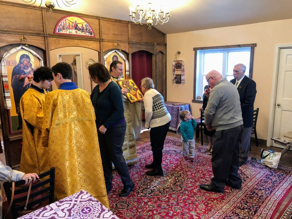 Procession with icons on the Sunday of Orthodoxy