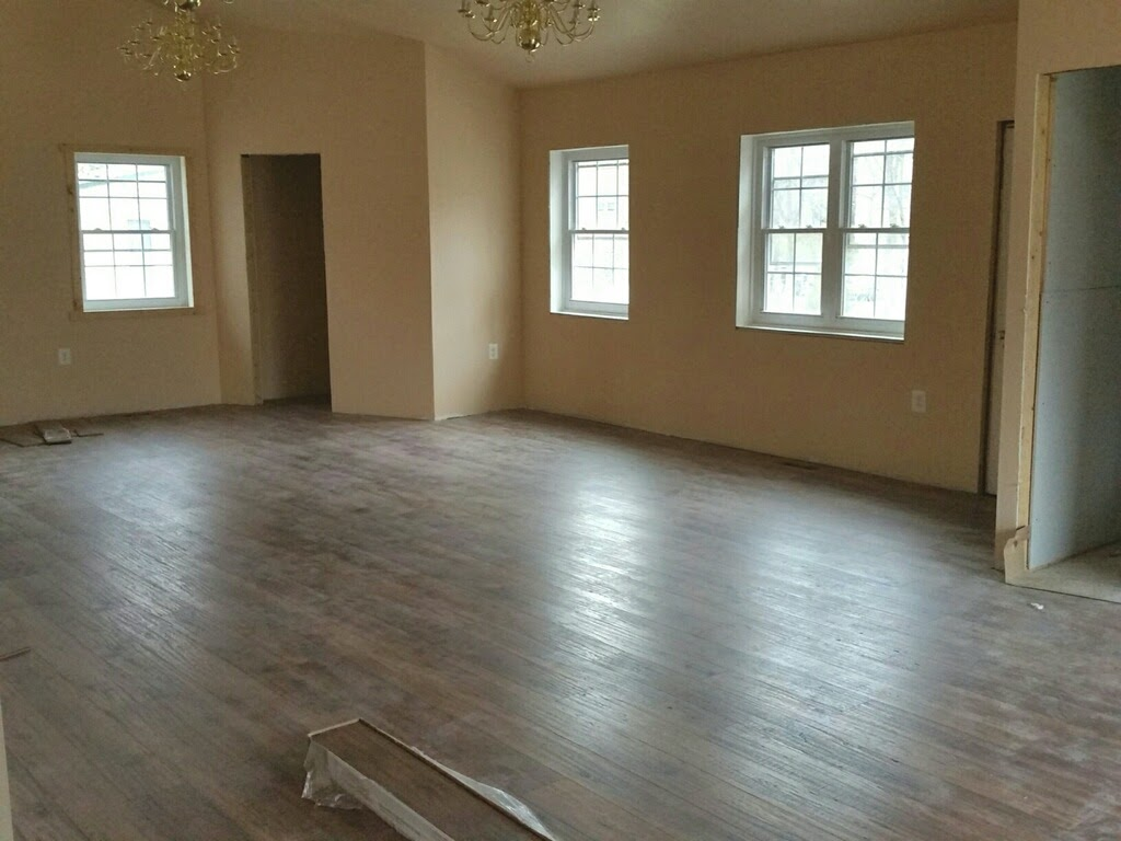 Installing new flooring — New Building Project