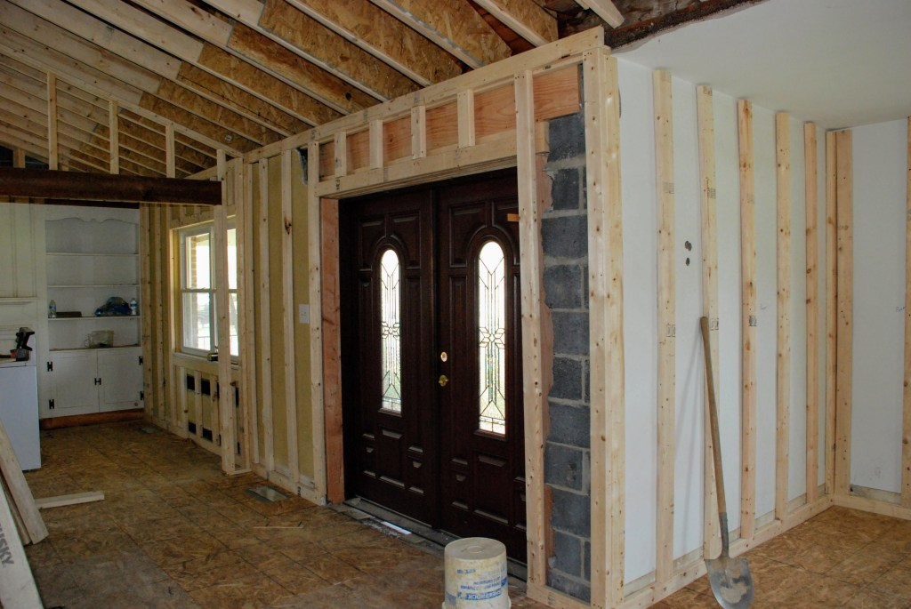 Framing the narthex — New Building Project
