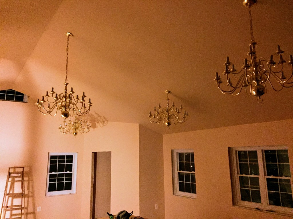 New chandeliers — New Building Project