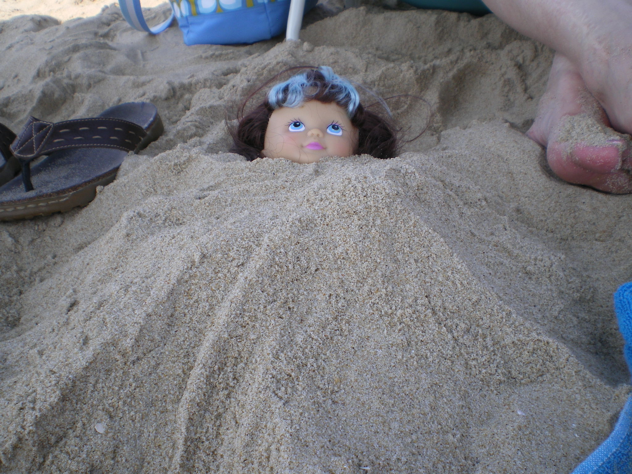 buried in the sand by Derek..fun on the beach!