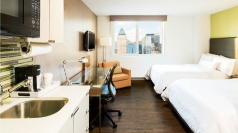 Element New York Times Square Double Queen Guest Room