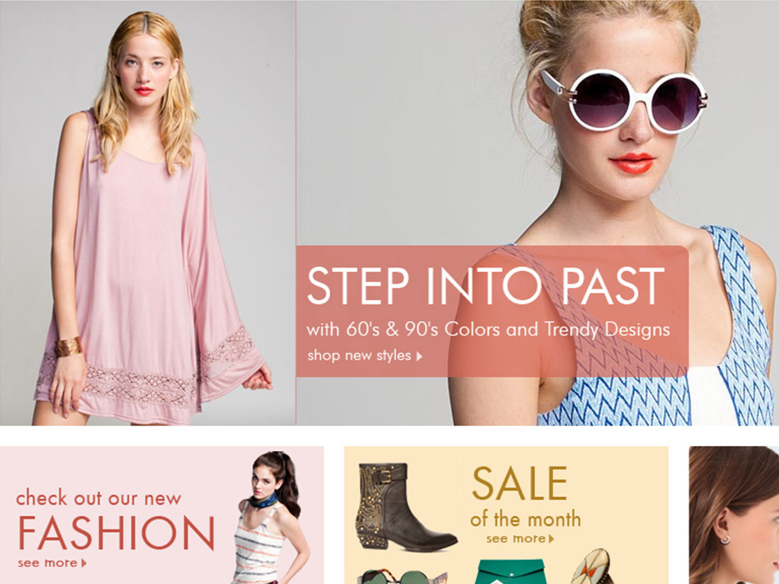 Boutique – Web Layout