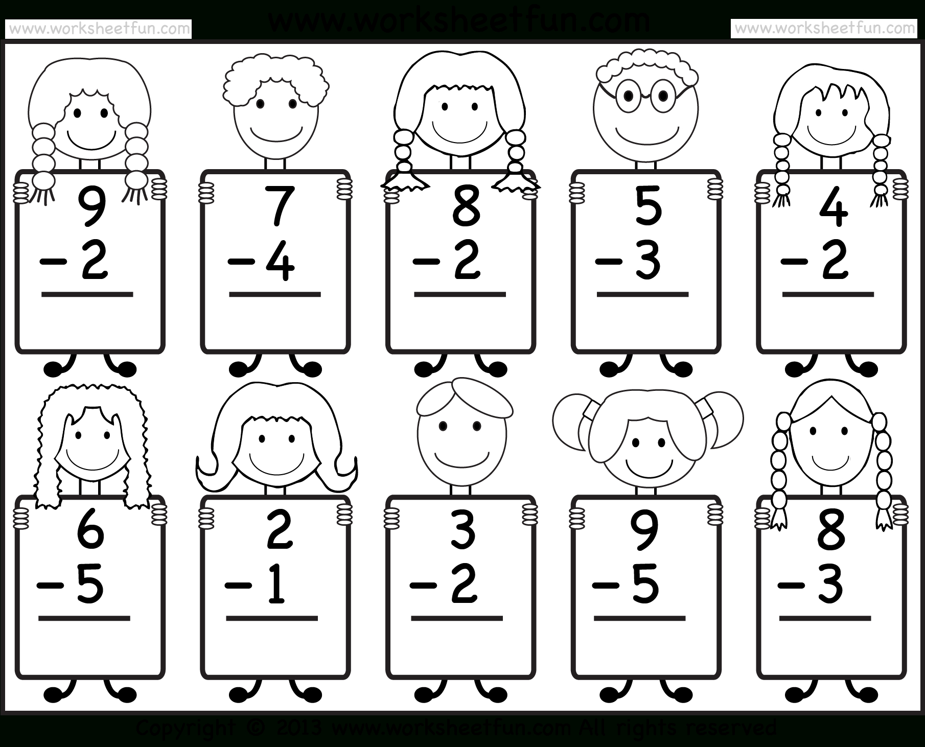 Free Printable Subtraction Worksheets
