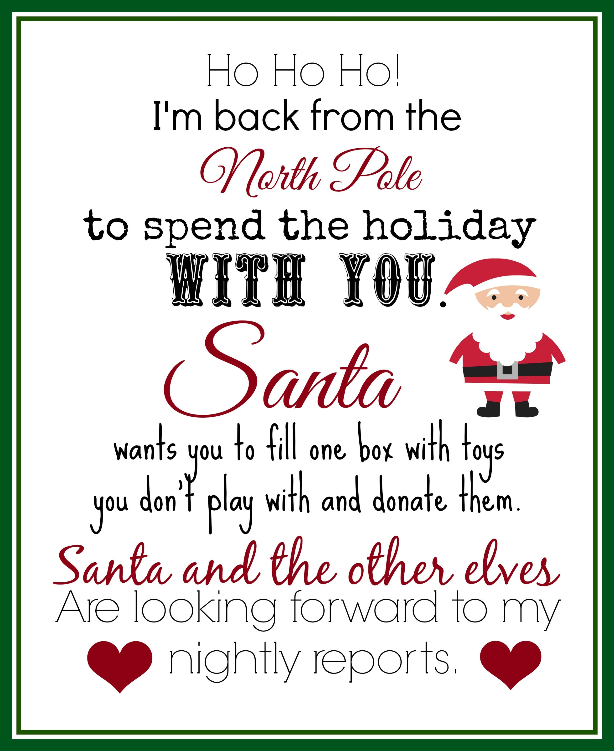 Free Printable Elf On Shelf Arrival Letter