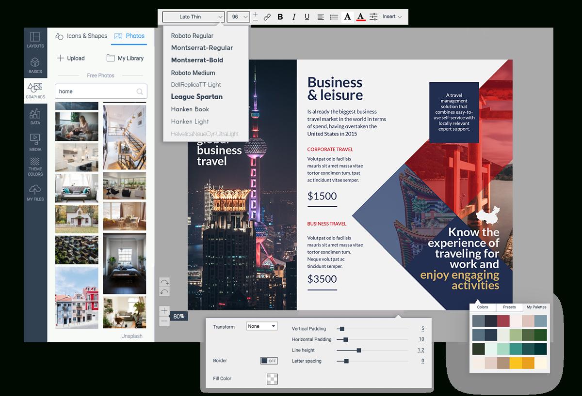 Online Brochure Maker Free Printable