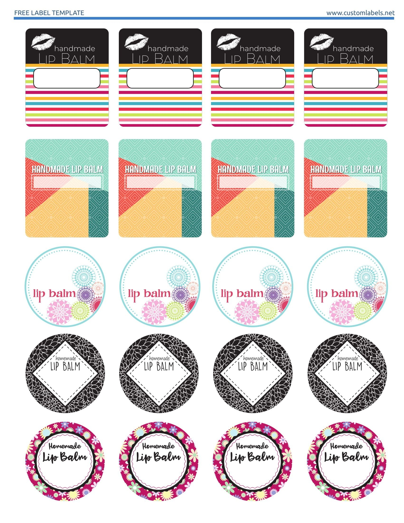 Free Editable Printable Labels