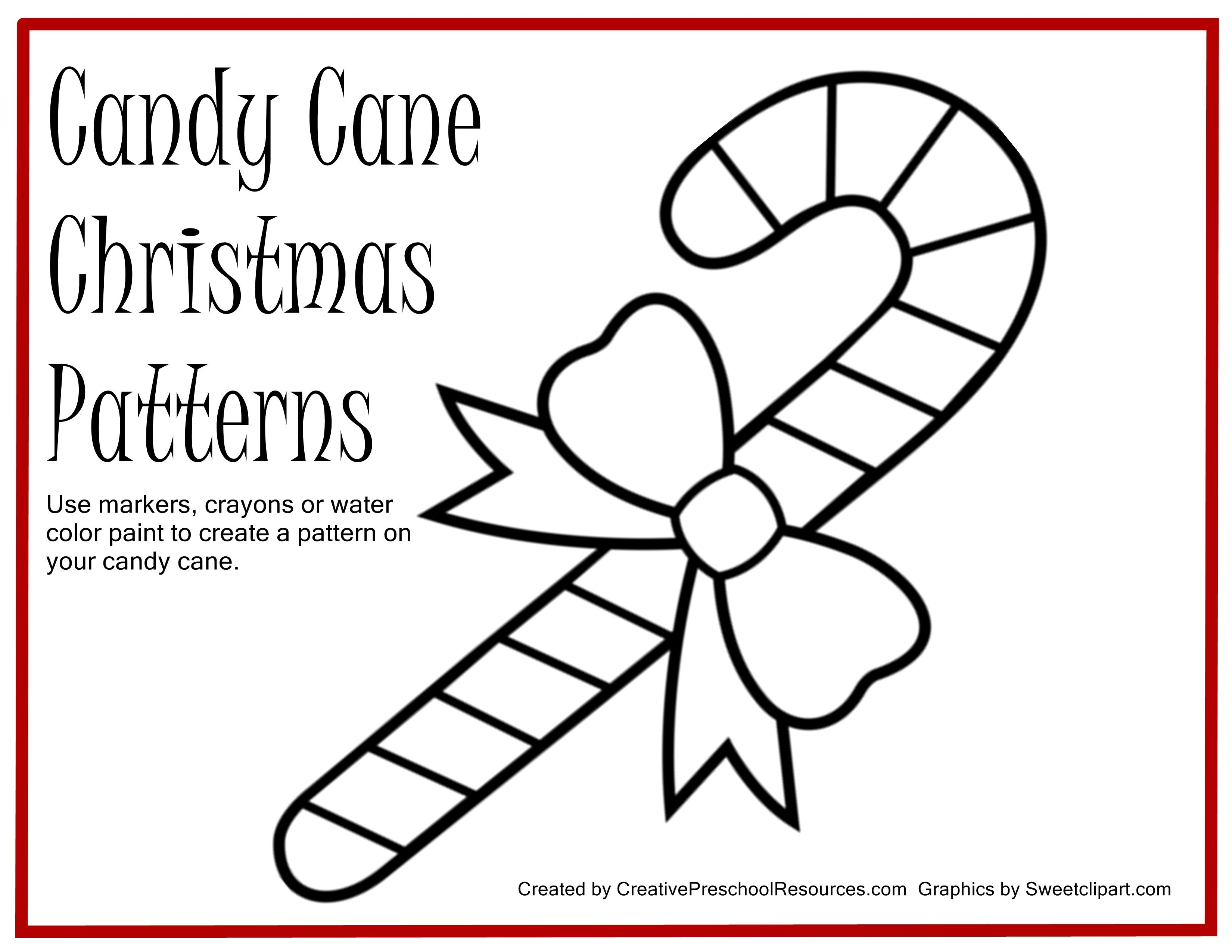 Free Candy Cane Template Printable