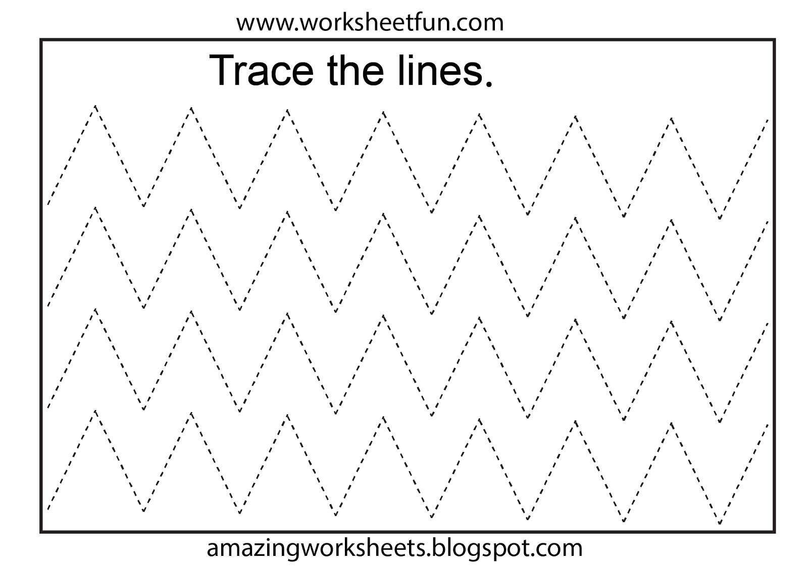 Tracing Lines Activity For Early Years Special For
