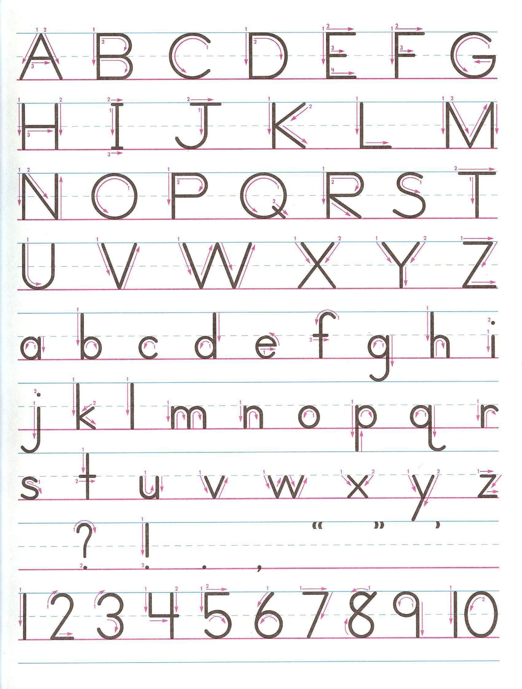 Handwriting Without Tears Worksheets Free Printable