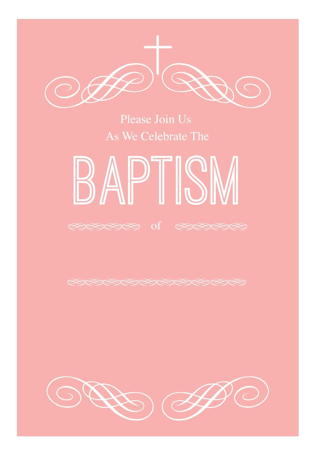 Baptism Invitations Templates Free Download