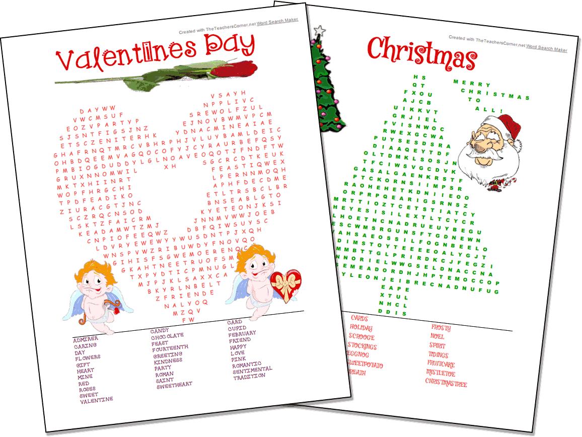 Printable Christmas Word Scramble