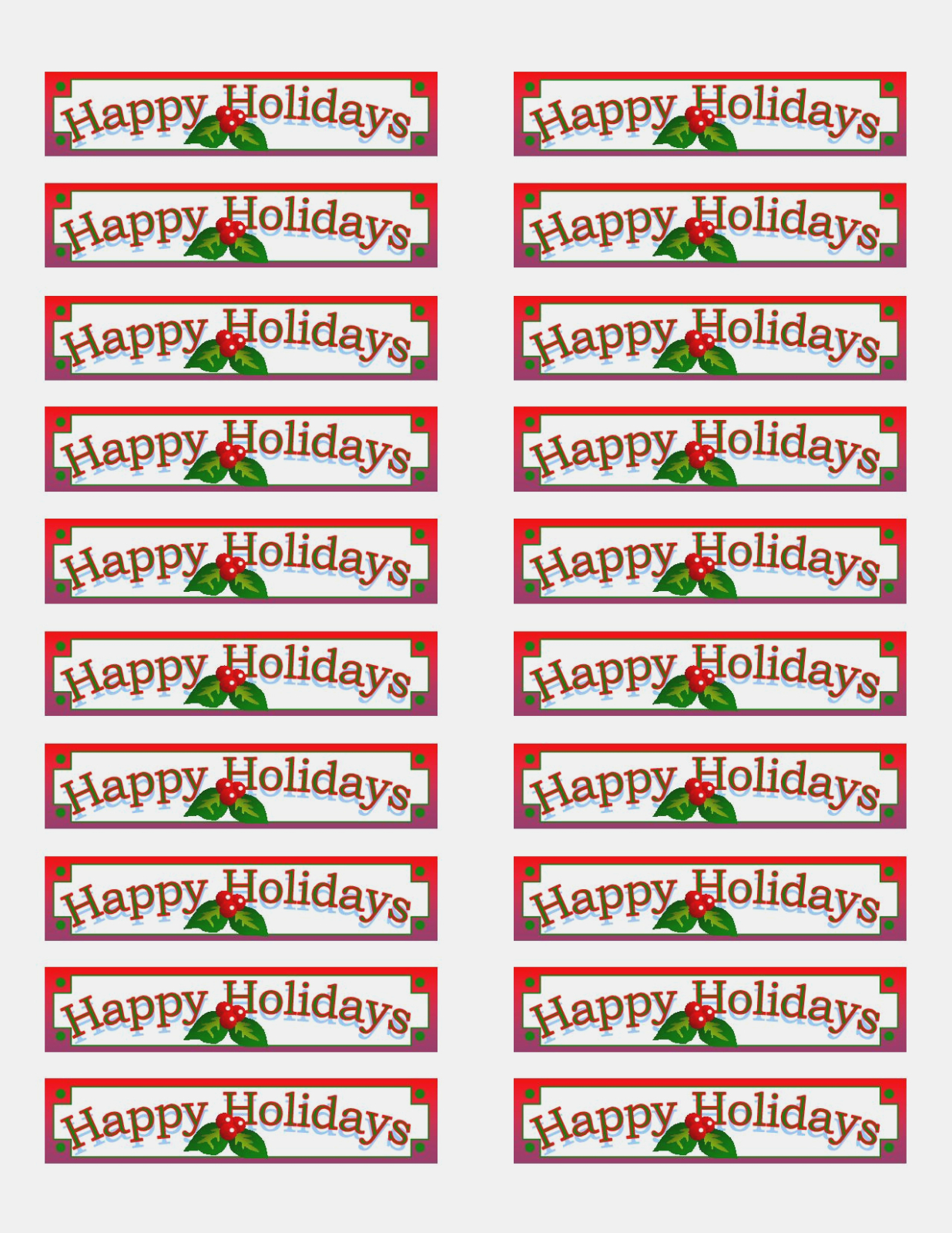 Free Printable Labels Avery
