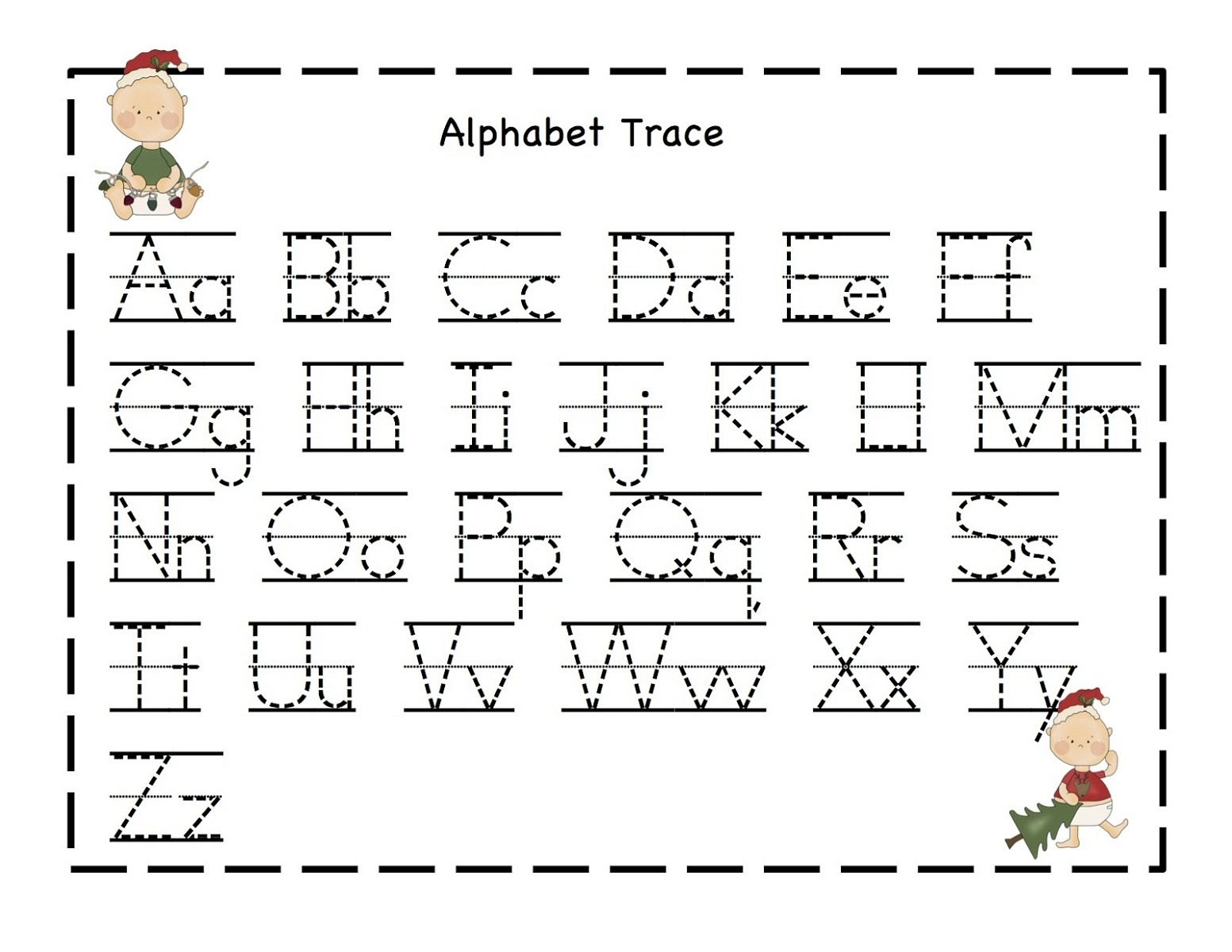Free Printable Alphabet Dot To Dot Worksheets