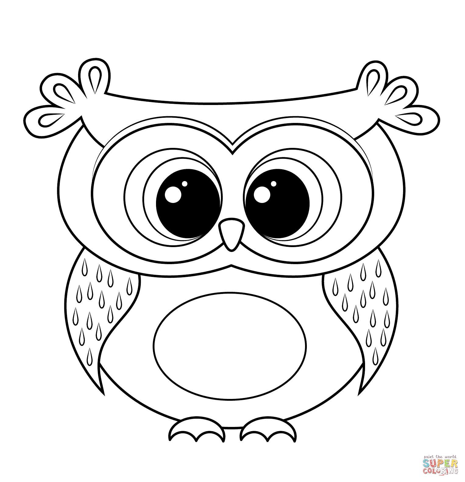 Free Printable Owl Coloring Sheets