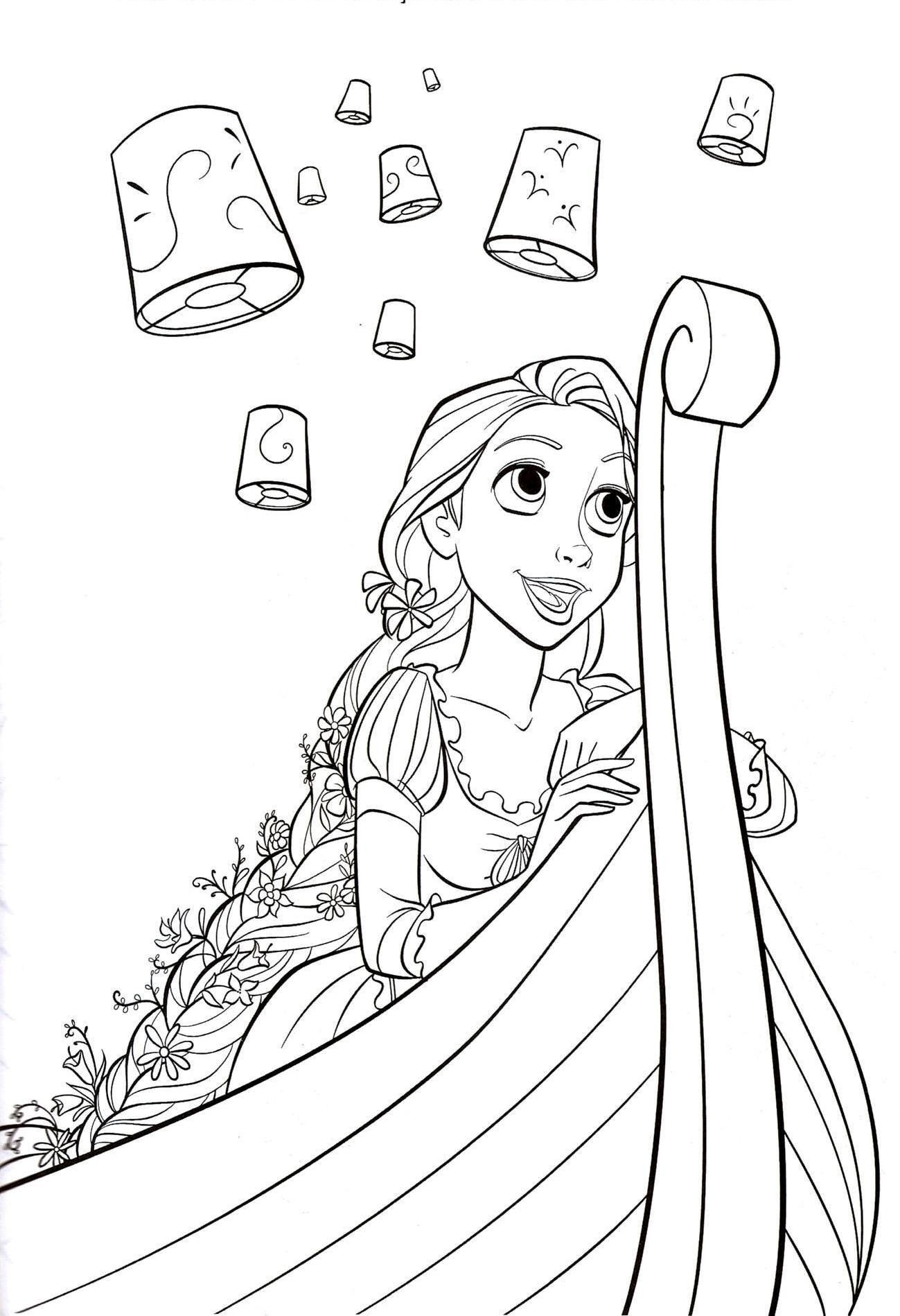 Flynn Rider And Rapunzel Coloring Page