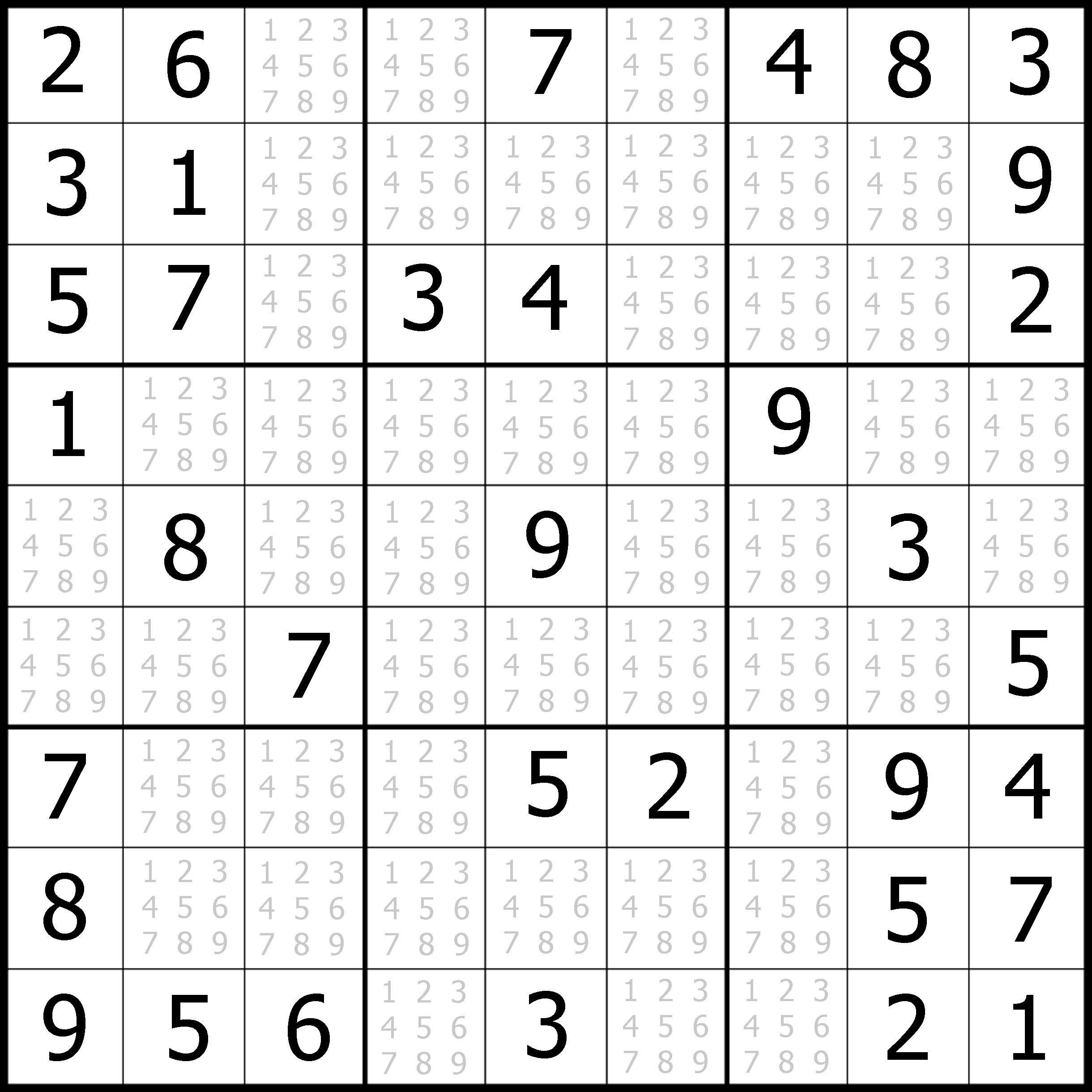 Easy Sudoku Printable Kids Activities