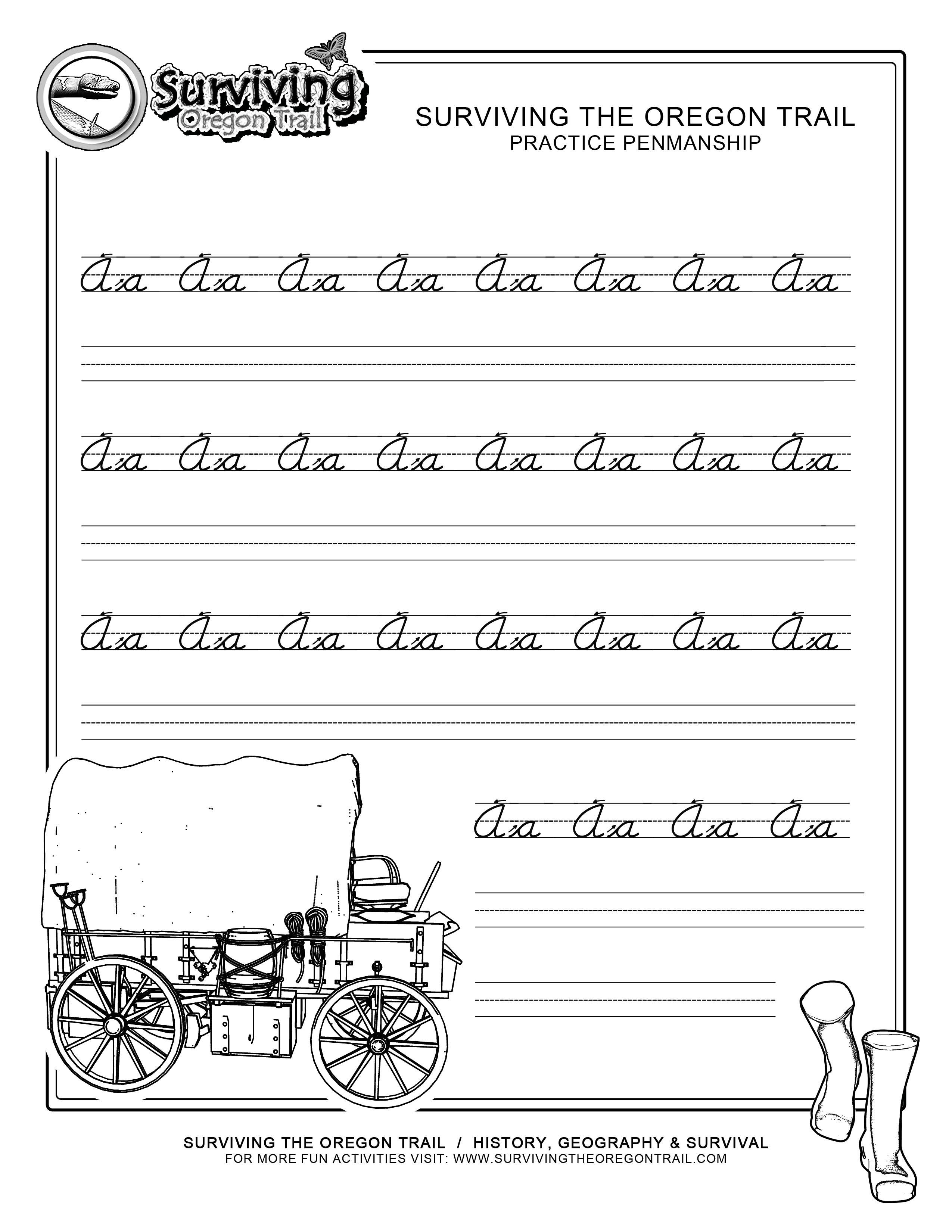 Free Printable Cursive Practice