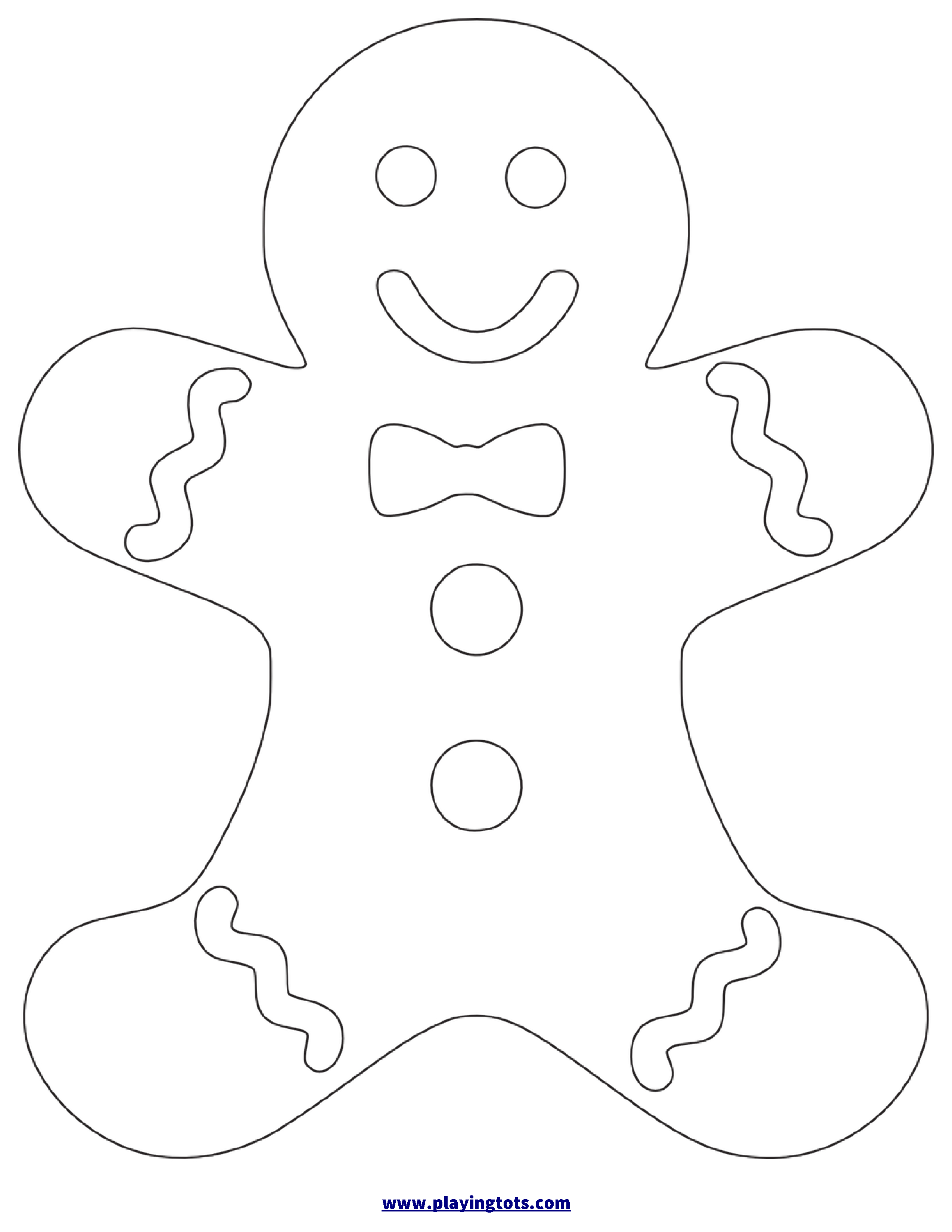 Gingerbread Template Free Printable