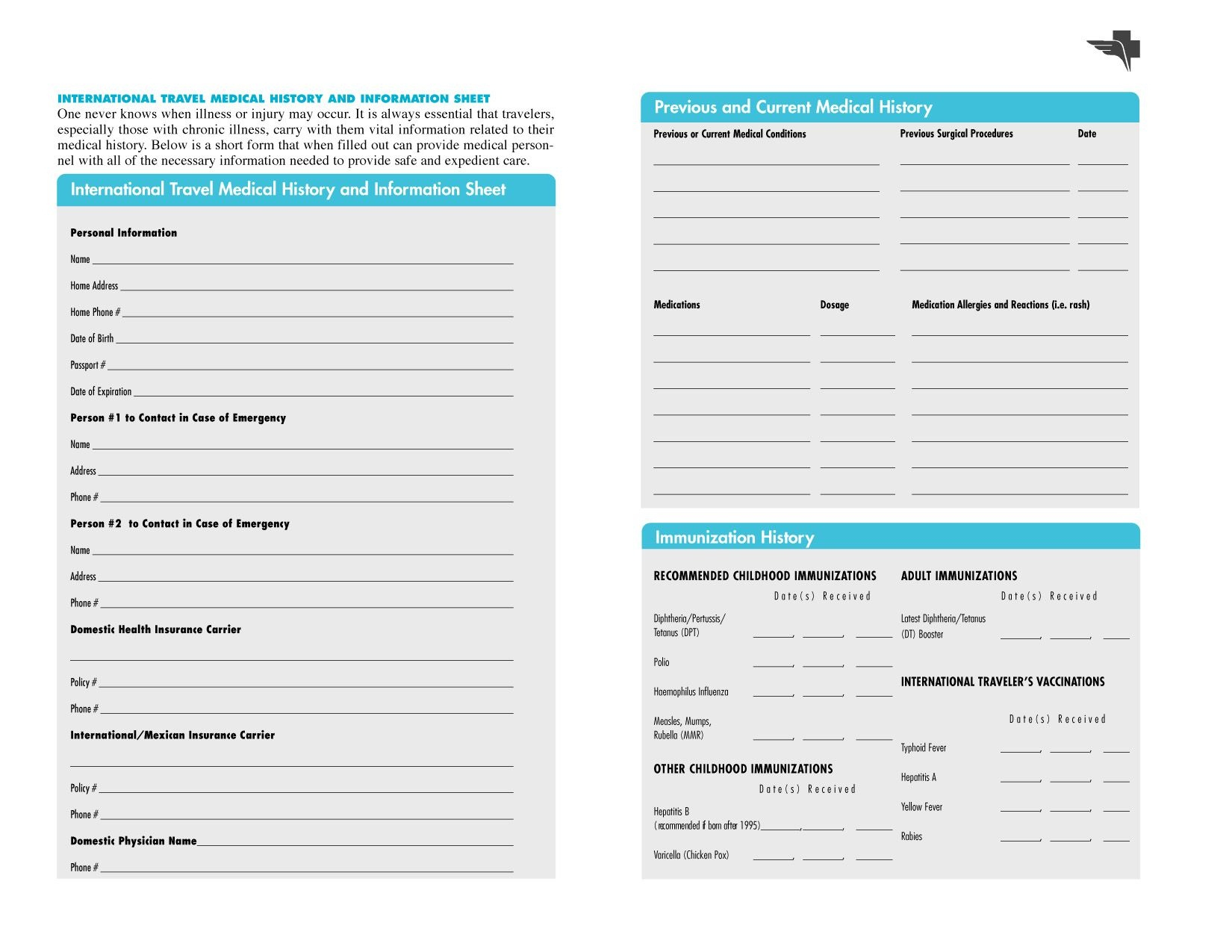Free Printable Medical Chart Forms