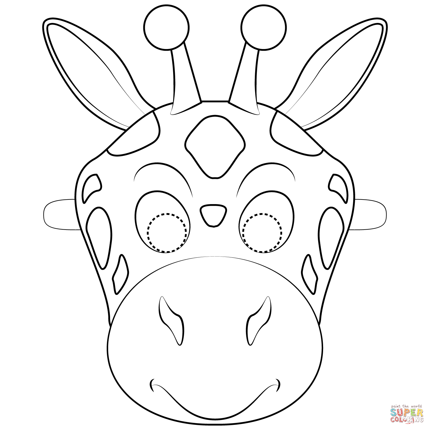 Giraffe Mask Template Printable Free