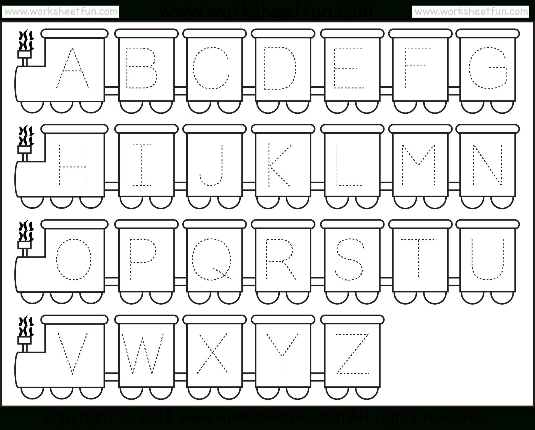 Free Printable Alphabet Worksheets For Kindergarten