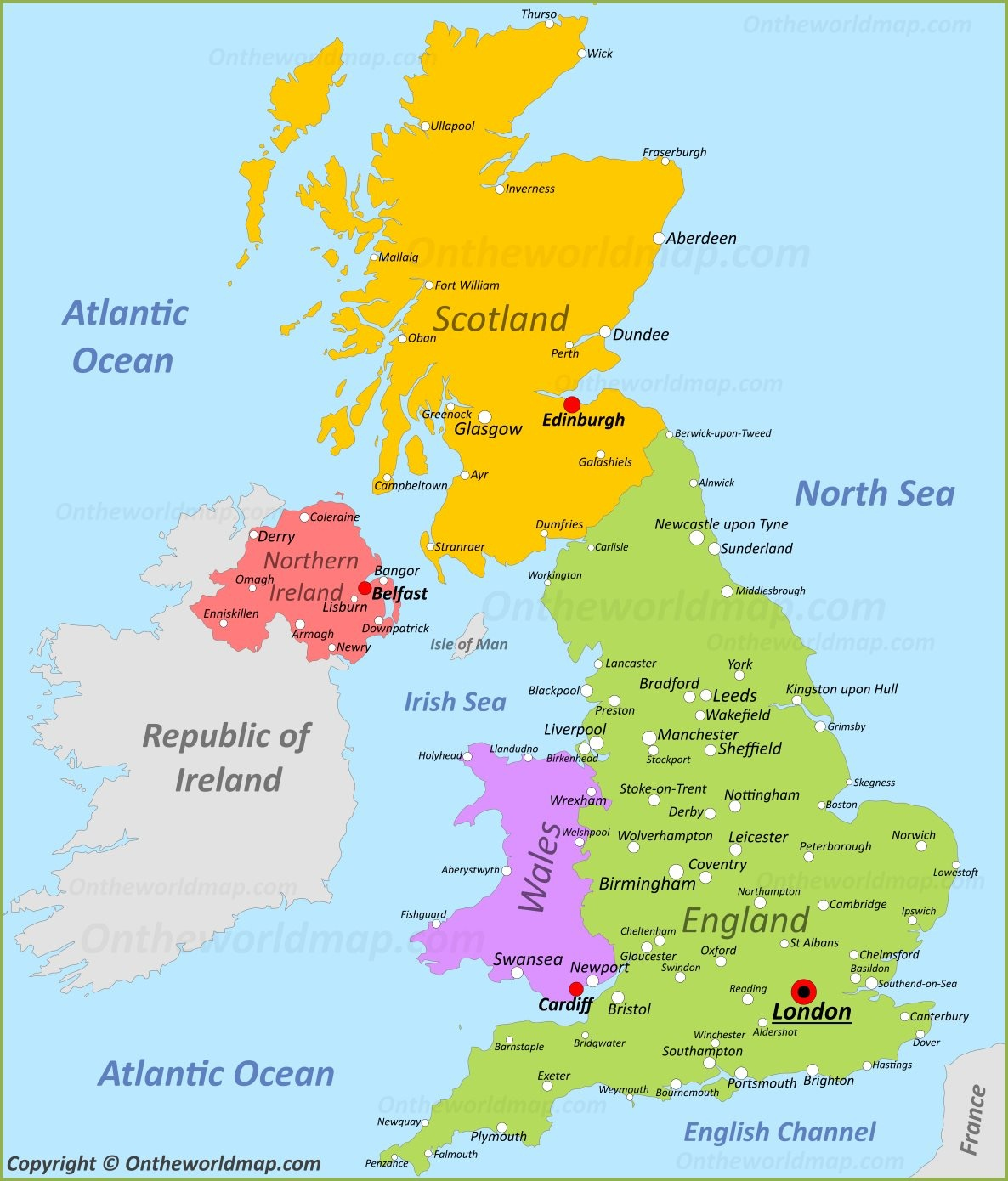 Download And Print Uk Map For Free Use Map Of United