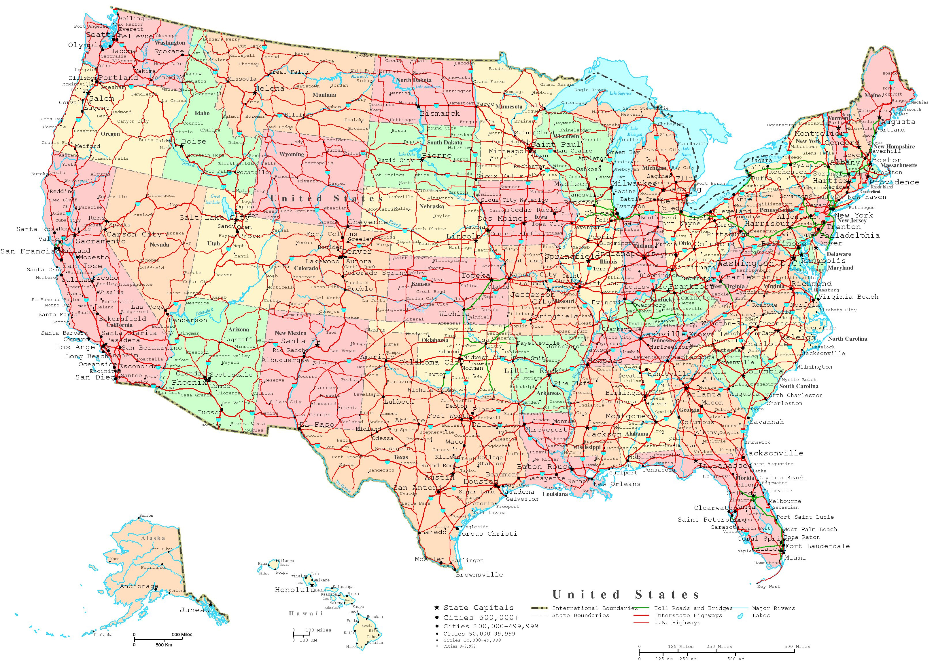 United States Map Outline Labeled Blank Map Worksheets