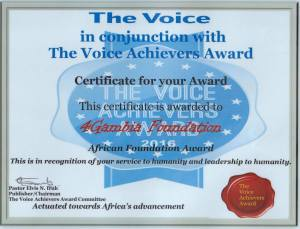 African Foundation Award